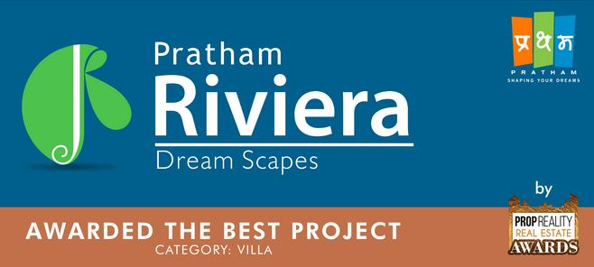 Pratham Riviera awarded - Best Villa Project by PropRealty, 18th Nov 2017
