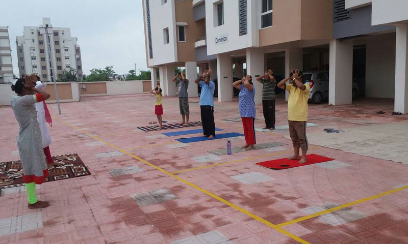 Yoga Event at Pratham Riviera, 25th June 2017